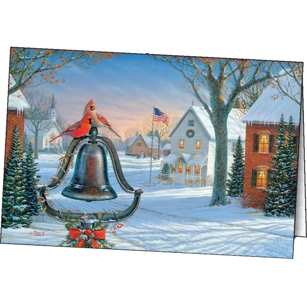 Imprinted American Holiday greeting card