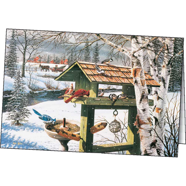 Imprinted Winter's Friends greeting card