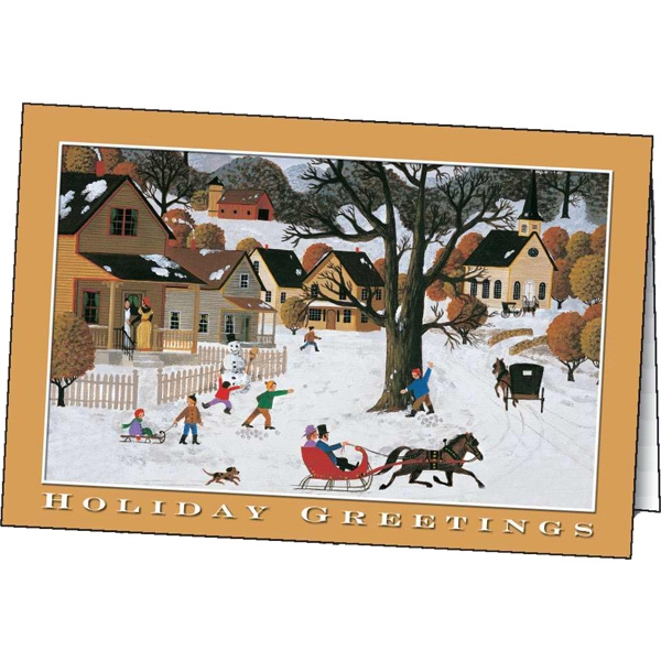 Customized Holiday Greetings greeting card