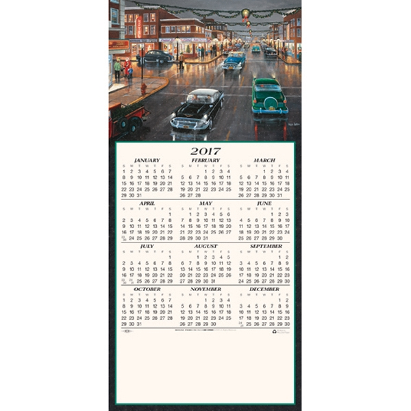 Promotional Zylla Main Street - 'Tis the Season calendar greeting card