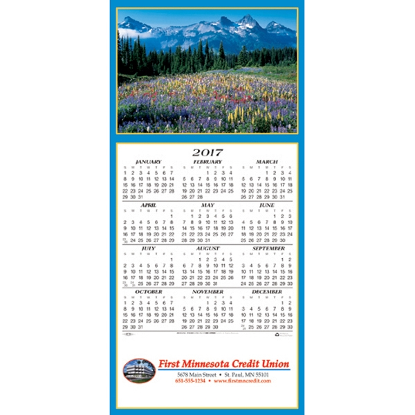 Printed Scenic Vista calendar greeting card
