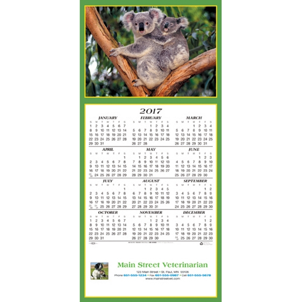 Customized Friendly Koalas calendar greeting card