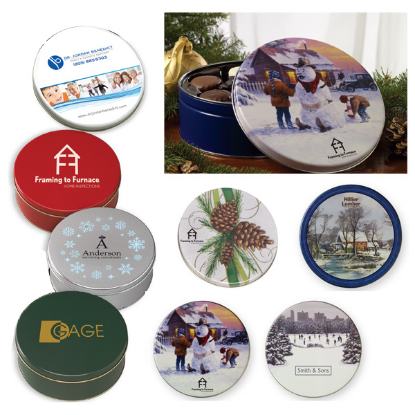 Personalized Collector tins filled with English Butter Toffee/Clodhoppers