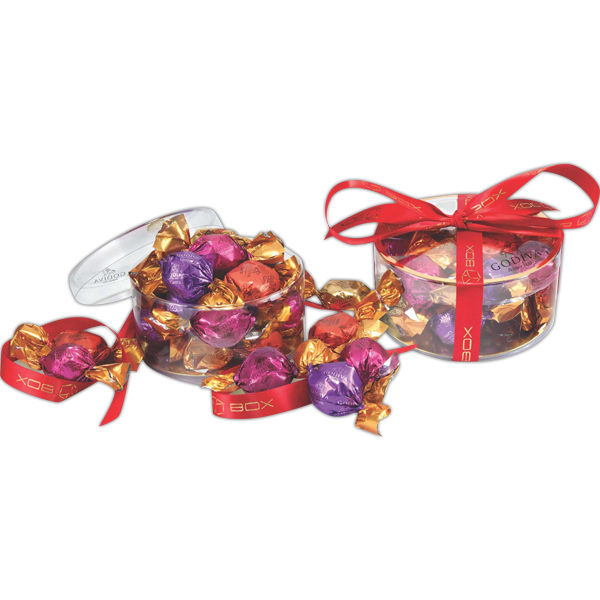 Printed Clearview Gift Box with Godiva wrapped chocolates