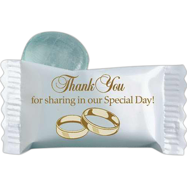 Customized Stock Wedding Individually Wrapped Candy