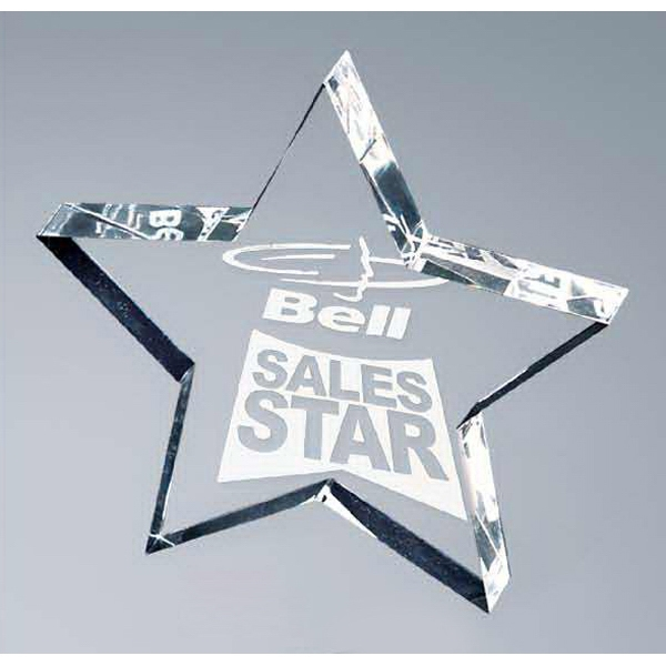 Personalized Lasered Lucite Star Award