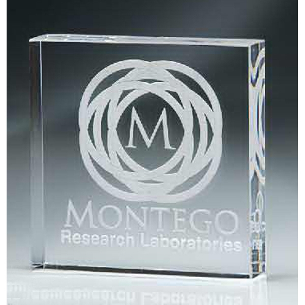 Imprinted Lucite Square Block