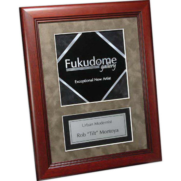 Personalized Cherry Finish Frame with Metal Diamond Insert