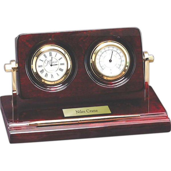 Custom Rosewood Piano Wood Desk Clock
