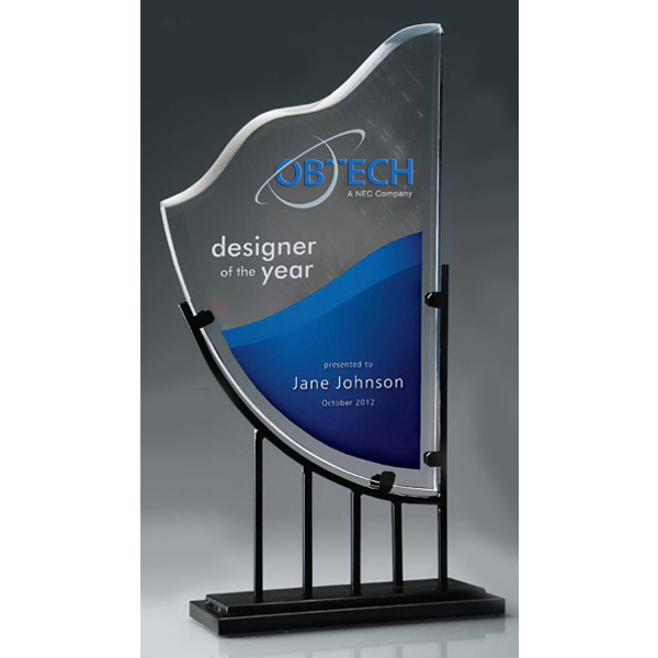 Promotional Harrow Iron and Lucite Award with Digi-Color