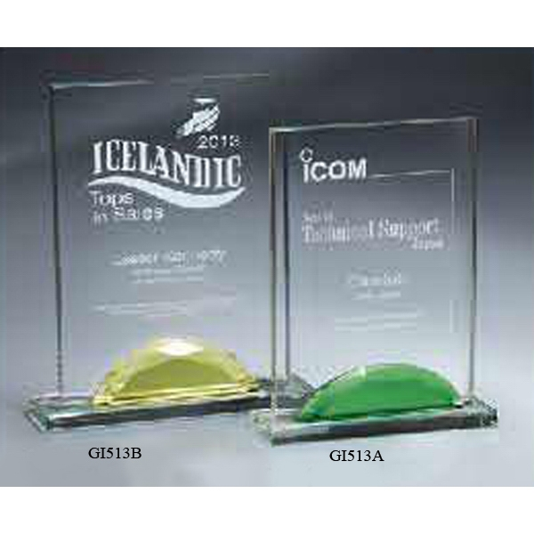 Personalized Optic Crystal Gemstone Award - Small
