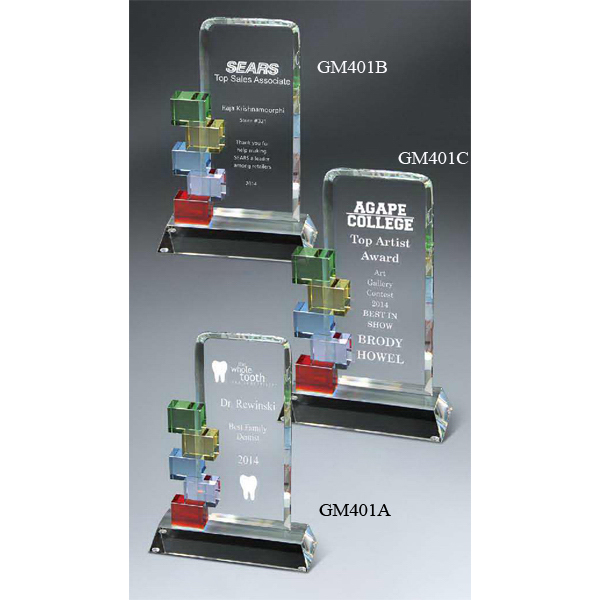 Custom Optic Crystal Cornerstone Excellence Award