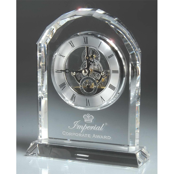 Personalized Optic Crystal Desk Clock
