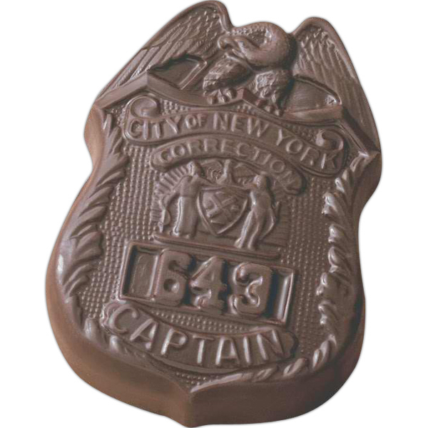 Printed 2 oz. Custom Molded Chocolate Badge