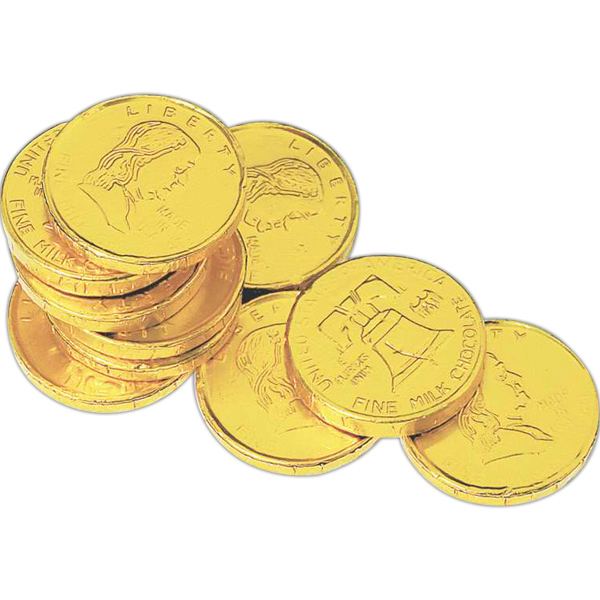 Printed Foil Wrapped Chocolate Replica Coin