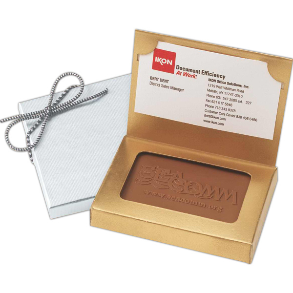 Personalized Custom Molded Rectangle Chocolate Cookie Business Card Box