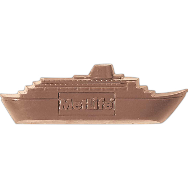Customized 2.5 oz Custom Imprinted Chocolate Cruise Ship