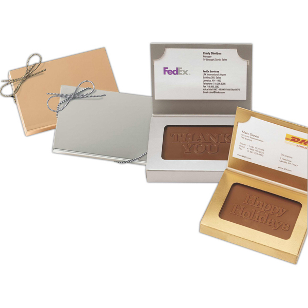 Printed Custom Molded Rectangle Chocolate Cookie Business Card Box