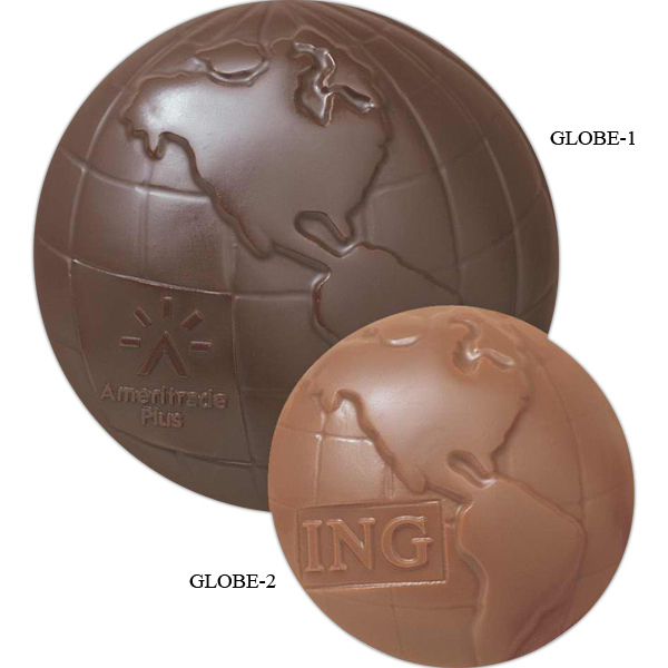 Custom 1 1/2 oz Custom Molded Chocolate Globe