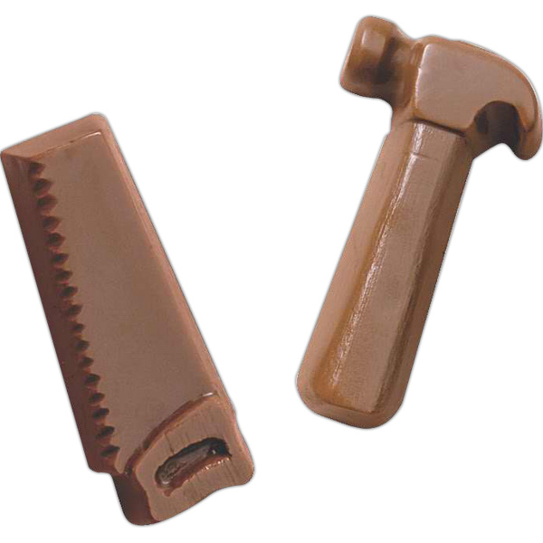 Custom 1 oz. Hammer shape molded chocolate piece