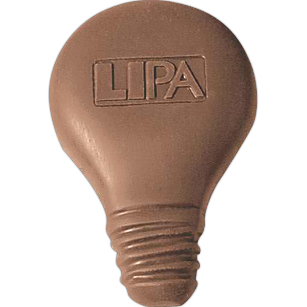 Custom 1 oz. Custom Molded Chocolate Shape - Light bulb