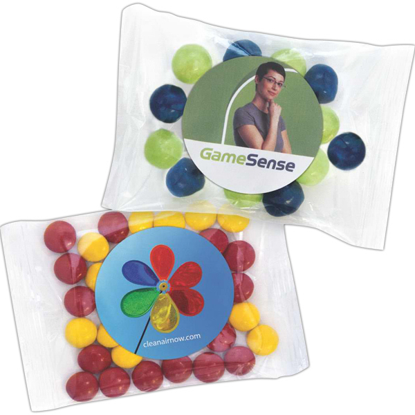 Customized Chocolate Buttons in a Handful Pillow Bag