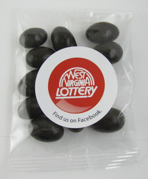 Promotional Goody Bag with dark chocolate almonds