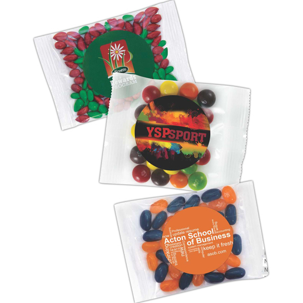 Custom Gourmet Jelly Beans in a Goody Bag Pillow