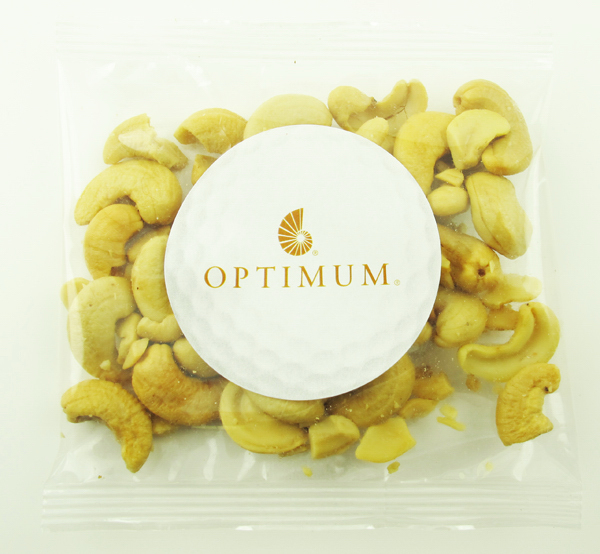 Personalized Jumbo Cashew Nuts in a Labelled Handful Goody Bags