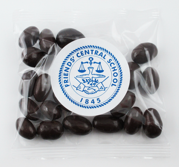 Customized Dark Chocolate Almonds in a Imprinted Goody Bag