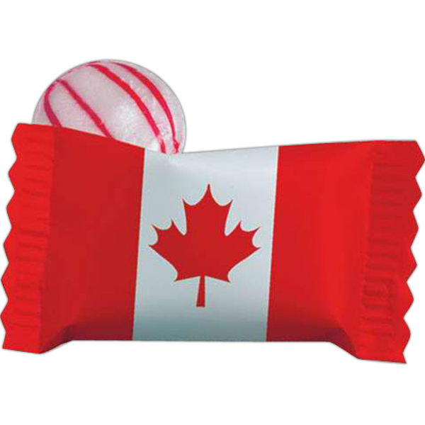 Custom Individual Canadian Peppermint Stock Wrapped Candy