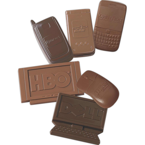 Customized Television shape molded chocolate