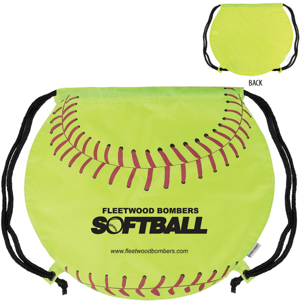 Custom GameTime! (R) Softball Drawstring Backpack