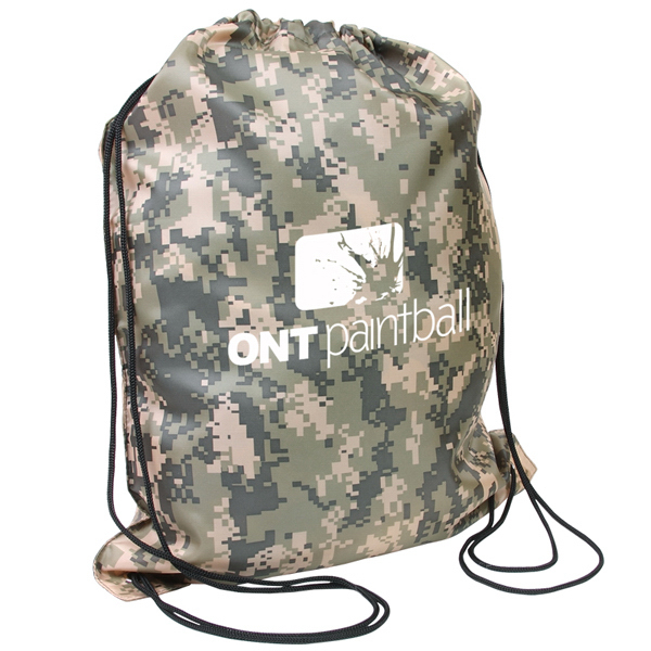 Customized Camo Drawstring Backpack