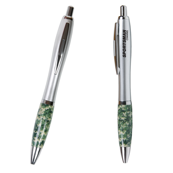 Printed Emissary Click Pen - Camouflage / Military Theme