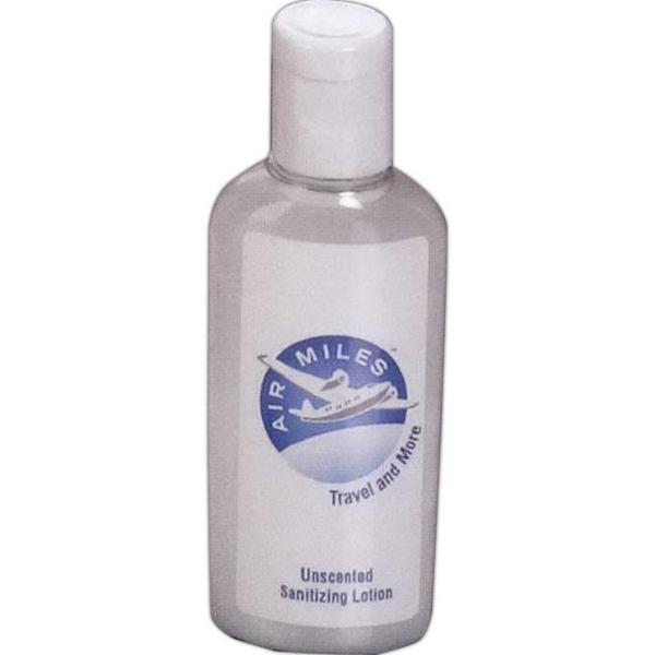 Customized 1 oz Sanitizing Lotion in Oval Bottle