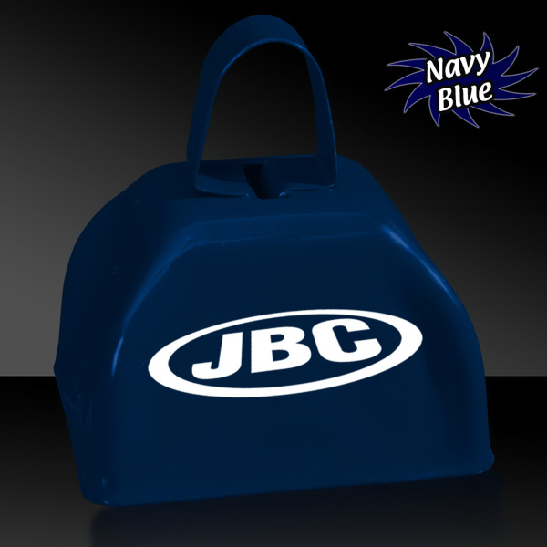 "Customized Navy Blue 3"" Metal Cowbell"