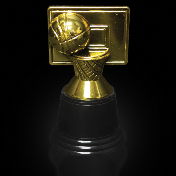 "Imprinted 4 3/4"" plastic basketball trophy"
