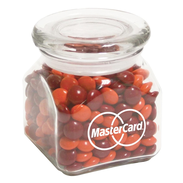 Custom Contemporary Glass Jar / Chocolate Buttons