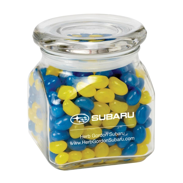 Printed Contemporary Glass Jar / Gourmet Jelly Beans
