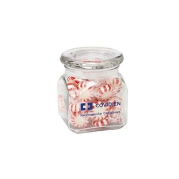 Promotional Contemporary Glass Jar / Starlight Mints