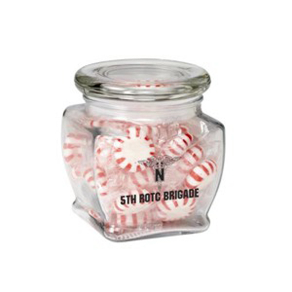 Custom Footed Glass Jar / Hard Candies