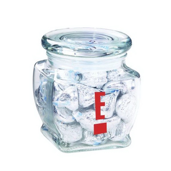 Promotional Footed Glass Jar / Hershey's Kisses (R)