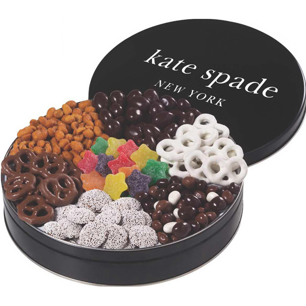 Imprinted Star Deluxe Treat Tin