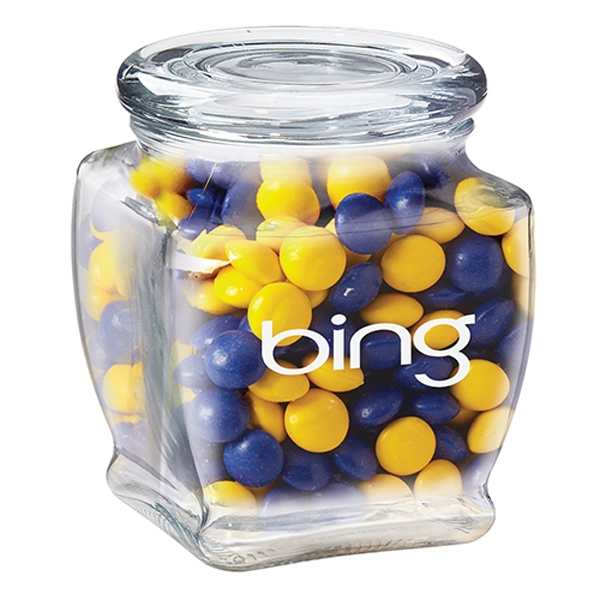 Custom Footed Glass Jar / Chocolate Buttons