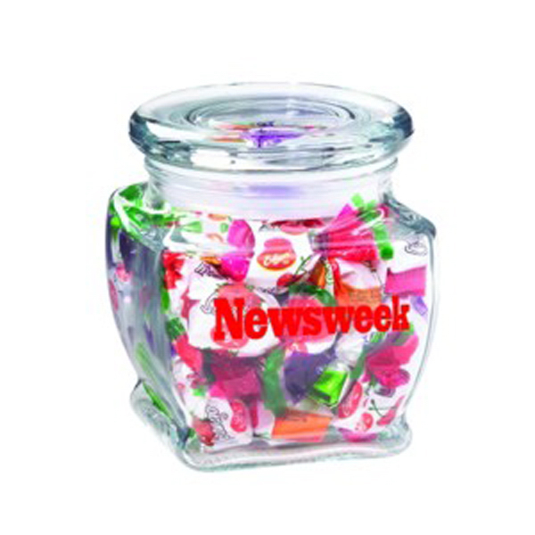 Customized Footed Glass Jar / Hard Candies