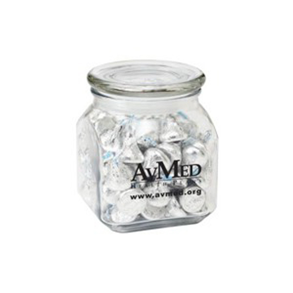 Printed Contemporary Glass Jar / Hershey's Kisses (R)