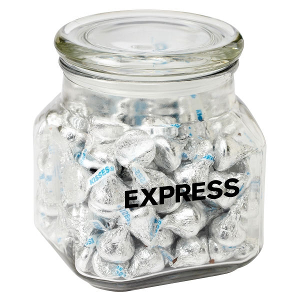 Imprinted Contemporary Glass Jar / Hershey's Kisses (R)