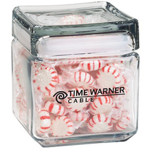 Customized Square Glass Jar / Hard Candy