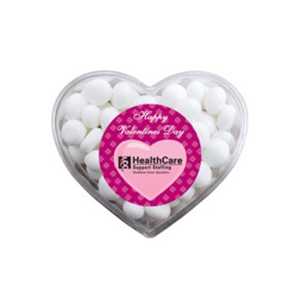 Customized Heart Container with White Mints
